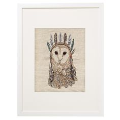 Coral and Tusk - owl portrait artwork