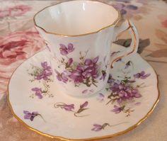 Vintage demitasse violets teacup 2 By eg2006