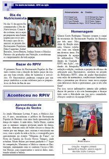 Restaurante Popular do Barreiro: Informativo- Rogério Pinto-auxiliar de cozinha funda informativo interno