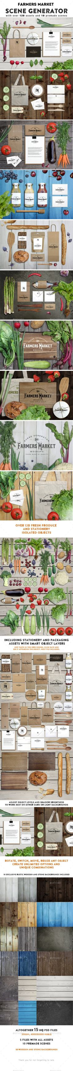 11831400 - Farmers Market Scene Generator