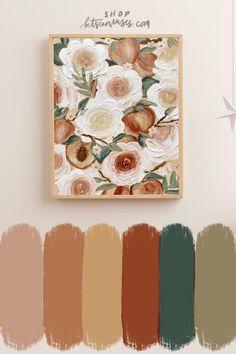 nursery art, peach art, fruit nursery decor, nursery decor art