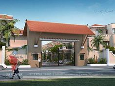 Image result for simple entrance gate designs for residential complex