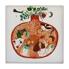 Pomegranate Vector, Watermelon Wallpaper, Yalda Night, Black And White Stickers, Diy Clock, Plate Art, Graphic Design Posters, Cute Crochet, Illustration Art