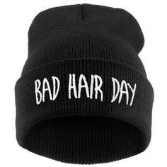Esporte Gorro Bad Hair Day Beanie Cap Mulheres Mistura De Algodão Letra Impressa Malha Hiphop Inverno Chapéus Bonés RD671503