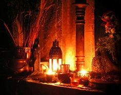 The Mabon altar can be as simple or as elaborate as you like. For a simple altar… Mabon, Samhain, Autumnal Equinox, Home Altar, Sabbats, Winter Solstice, Blooming Flowers, Magick, Witchcraft