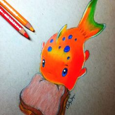 Pudge the fish drawn 5 25 14 my doodles pinterest for Pudge the fish