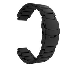 Garmin Forerunner 235 Watch Band, MoKo Universal Stainless Steel Watch Band Strap Bracelet for Garmin Forerunner 235 / 220 / 230 / 620 / 630 Smart Watch, Watch Not Included - BLACK. Personalized Your Garmin Forerunner 235 / 220 / 230 / 620 / 630 Smart Watch with this refined replacement stainless steel wrist band. Band can be installed onto Garmin Watch Lugs(not included) on both ends precisely and securely. Easy and direct installation and one button removal. Durable and sturdy. Unique...