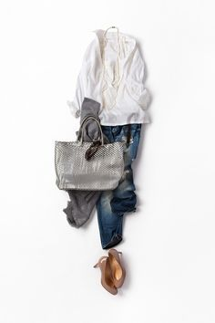 A nice complete outfit Denim Fashion, Look Fashion, Daily Fashion, Spring Fashion, Winter Fashion, Womens Fashion, Fashion Trends, Mode Outfits, Casual Outfits