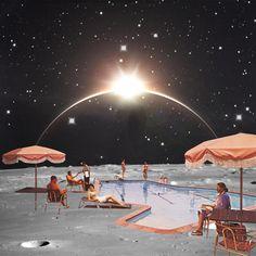 Moon pool 6 Art Print by Steven Quinn | Society6