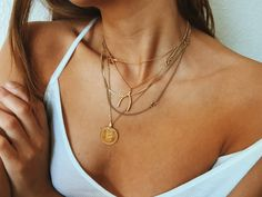 layered delicate gold chains | Maja Wyh