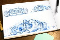 Sketchbook by Dan Winger, via Behance