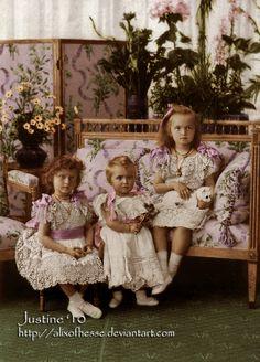 Olga, Tatiana, and Marie. I think Olga looks quite regal in this picture.