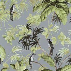 Tapeta ścienna liście ptaki Memphis 05550-50 PS International