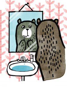 Illustration Friday Misa Saburi 'Beard'