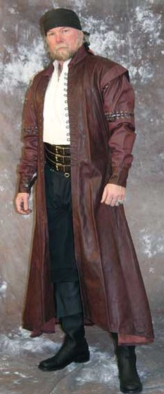 Surcoat Ravens Leather Coat Jacket----Makes me want to carry around a sword inside and announce myself as Duncan McLeod.... Damn fine coat!