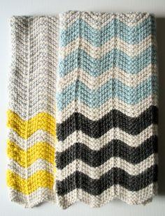 Chevron Baby Blanket in Super Soft Merino