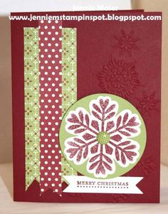 SUO-FMS60 Snowflake by CraftyJennie - Cards and Paper Crafts at Splitcoaststampers