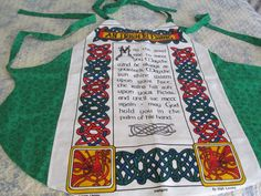 Irish Blessing apron Reversable Made from  by KaTerryTheSewSisters