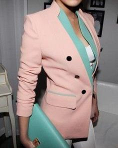love this pink / mint blazer - sooo miami vice 80s I can't stand it!