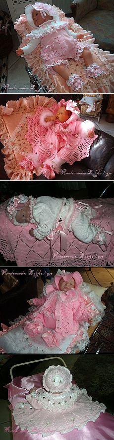 """Как оформлять вязанные наряды для новорожденных_с немецкого сайта """"бэбибутик"""""""