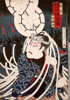 『東京一二伊達競』「市川左団治」(豊原国周 画)