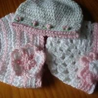 Crocheting: A Trio of Pretty Baby Hats Free Pattern