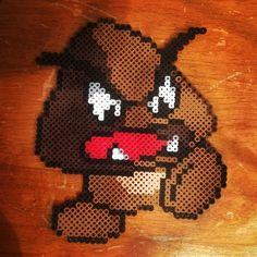 Goomba Mario perler beads by hobbies_n_stuff