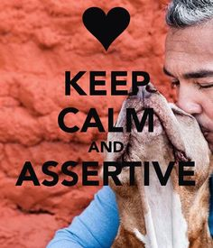 "You know you've been watching a lot of @cesarmillan when your 5 year old reminds you to be ""calm and assertive""!"