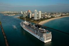 MSC Divina Arrives At Port of Miami And Makes History. [I'll soon be standing on the deck of this beauty waving goodbye to Miami as we pass out of port. Soooo excited!]