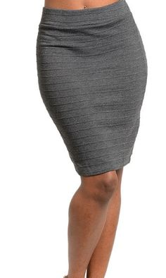 Charcoal Bandage Mini Skirt