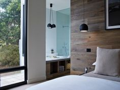 Timber feature wall for main bedroom