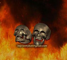 vampire skull ring 3d design by Teddy Himawan  into the fire biker skull ring