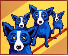 George Rodrigue I Walk the Line painting art sale, painting