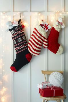 Hand Knit Wool Stocking - Children's Christmas | The White Company ...