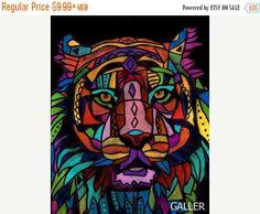 50% Off FREE Shipping WORLDWIDE Tiger Art by HeatherGallerArt