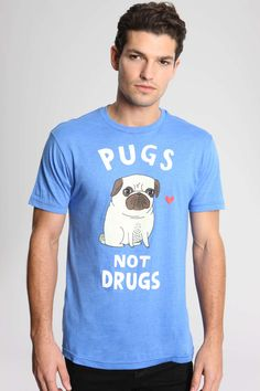 Ripple Junction Gemma Correll Pugs Not Drugs Tee at Urban Outfitters