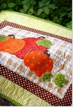 Pumpkin Table Topper Quilt from Mandie and Me Design