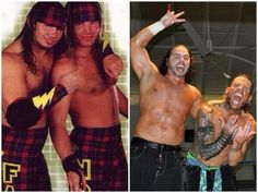 Matt & Jeff Hardy then and now