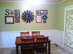 Gallery Wall - love the sunburst mirror