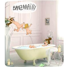 #illustration #humour #bain