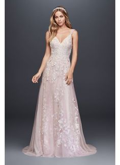 Butterfly Appliqued Tulle A-Line Wedding Dress MS251187