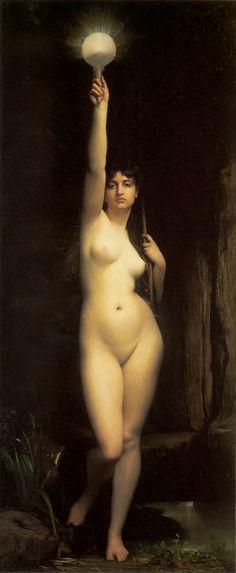 The Truth - Jules Joseph Lefebvre. Artist: Jules Joseph Lefebvre. Completion Date: 1870. Style: Academicism. Genre: nude painting (nu)