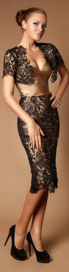 Rochie de Seara Cristallini Limited Edition #lace #black #formal #elegant #cocktail #dress