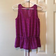 Ann Taylor blouse Purple and blue printed blouse-tank top Ann Taylor Tops Blouses