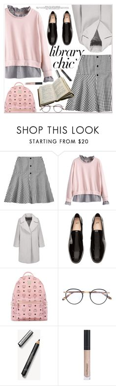 """Work Hard, Play Hard: Finals Season"" by zaful ❤ liked on Polyvore featuring MCM, Garrett Leight, Burberry and Bare Escentuals"