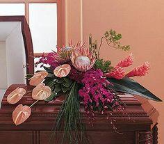 casket flowers orchids - Google Search