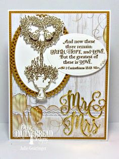 Our Daily Bread Designs Stamp Set: Happy Wedding Day, Custom Dies: Heart Topiary, Mr & Mrs, Ovals, Ornate Ovals, Pierced Rectangles,  Paper Collection:Wedding Wishes