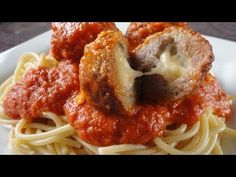 Learn how to make these delicious meatballs stuffed with mozzarella! Serve over your favorite pasta or make into an amazing meatball sub. You dont have to stuff them if you dont want as the meatballs alone are delectable!   What youll need: 1 lb ground Italian sausage, pork or turkey (see how I make my own: http://youtu.be/ONajWixAKBc ) 3/4 c...