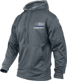 420680724a35 Our new Thin Blue Line Flag Grey Moisture Wicking Sweatshirt offers warmth,  comfort, concealment