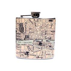 Map of Paris Flask $17.95 (Je t'aime!)